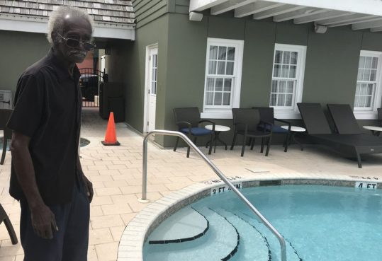 Jackson said he doesn't visit the infamous pool often. He described the actions that day by its owner as horrendous.